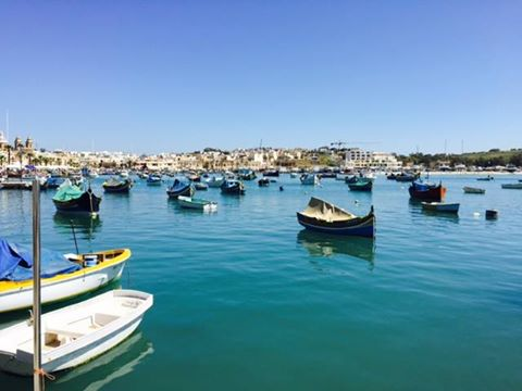Small Fishing Village in Malta