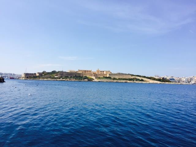 The ancient wall still surrounds Malta, keeping pirates safe inside.
